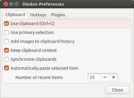 Diodon-Preferences